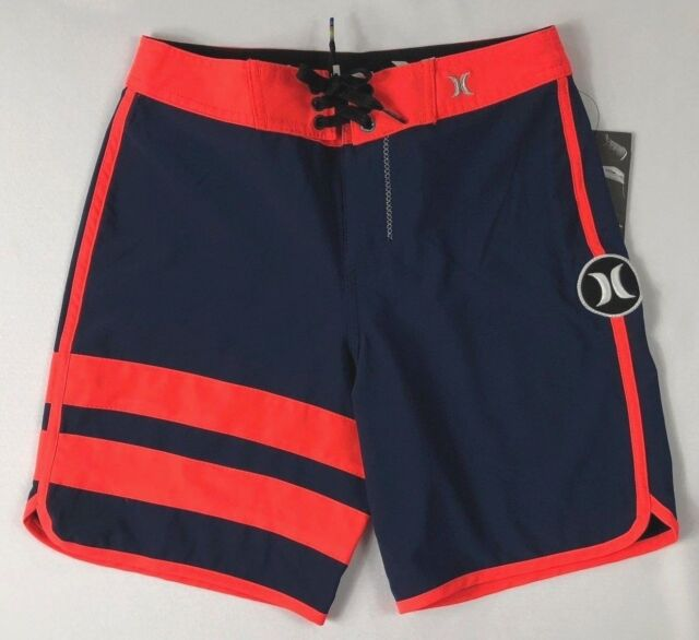 3ee23a23432a23 Hurley Board Shorts Youth Boys 24 Size 8 Navy Red Phantom Swim Suit ...