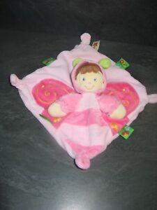 doudou-lutin-papillon-rose-vert-pois-nicotoy-etat-neuf