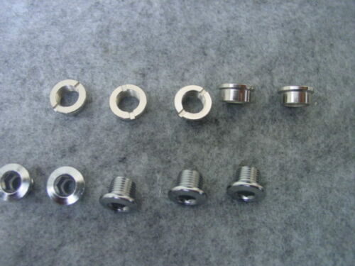 5 Chainring Bolts Coloured Aluminium and Steel Chrome Single DoubleSpeed Chainring