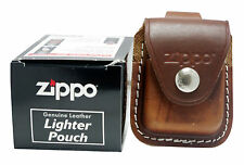 Zippo Lighter Pouch LPLB Genuine Brown Leather NEW