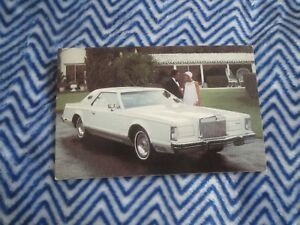 Details about 1978 LINCOLN CONTINENTAL MARK V NEW PROMO POSTCARD
