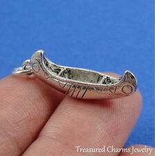 Silver CANOE Canoeing Water Sports Boat CHARM PENDANT
