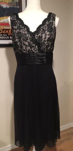 Patra Womens Fancy Black Dress Size 8 ~Chiffon & P