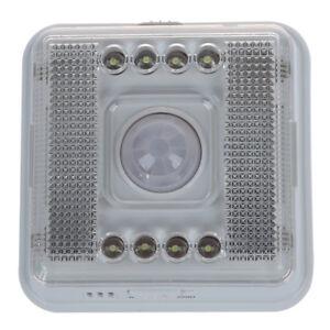 8 Led Nachtlicht Lampe Bewegungsmelder Sensor Weissue20 W1e5 Sx Ebay