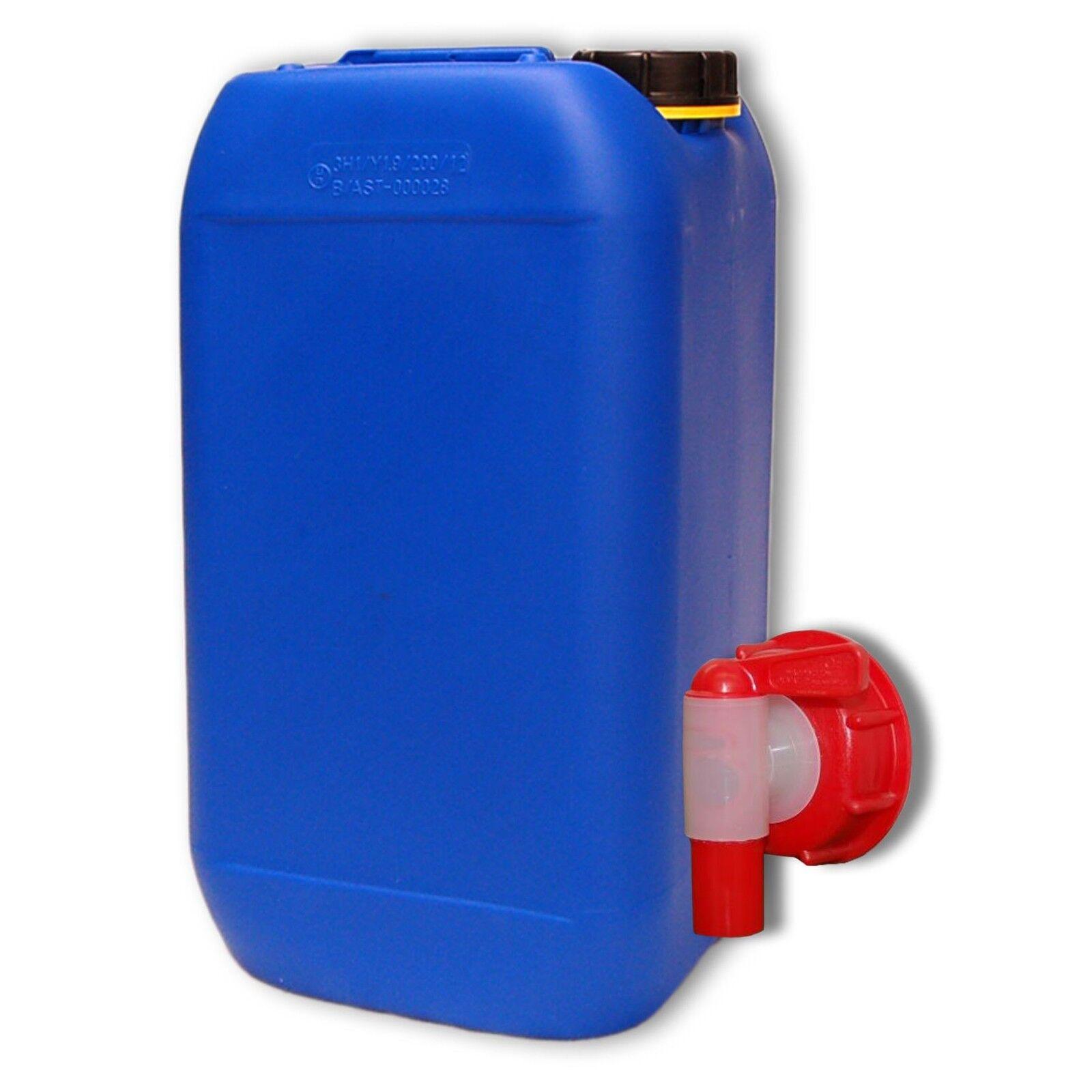 Bidon plastique 15 L Bleu DIN 61 + 1 Robinet aéroflow, Alimentaire (22246+010)