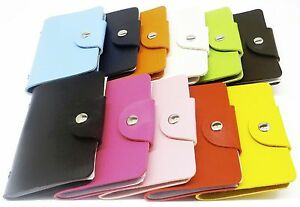 Mini Slim Card Holder Pocket Wallet Credit ID PU Leather Purse Money Cash Travel