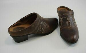 ARIAT-Western-Mule-Brown-Leather-Women-US-6-5-B