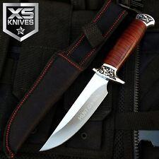 "10"" Hunt-Down Fixed Blade SURVIVAL Wood Handle Hunting Knife Skinner W/ Sheath"