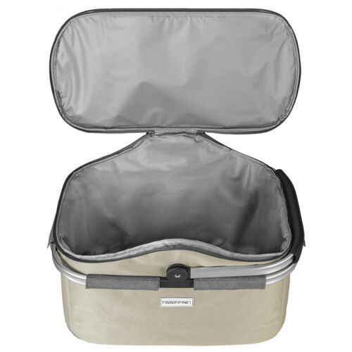 anndora Einkaufskorb 25 Liter champagner grau Kühlkorb Picknickkorb isoliert