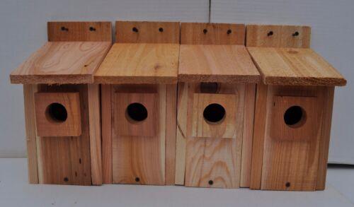 """4 bluebird houses  HOLE SIZE 1 1//2/""""   handmade .5//8 cedar"""