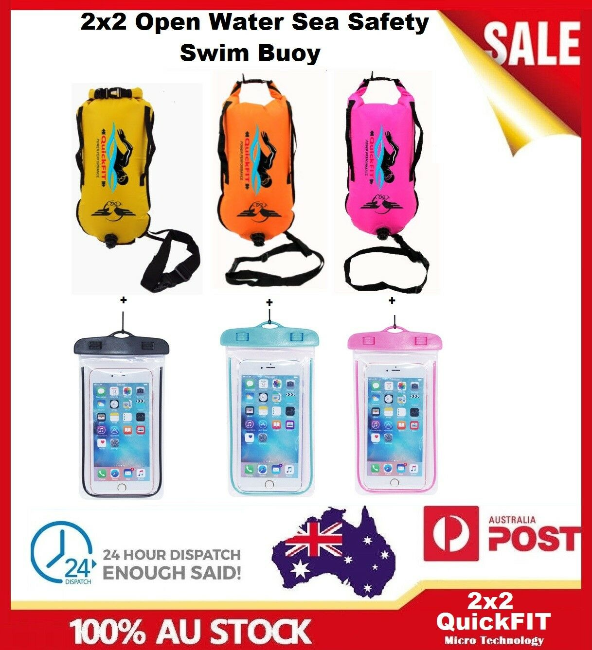 Open Water Sea Safety Swim Buoy Flotation Aid Swimming High Visibility Device