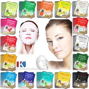 30PCS-Korean-Essence-Facial-Mask-Sheets-Moisture-Face-Mask-Pack-Skin-Care-Lots