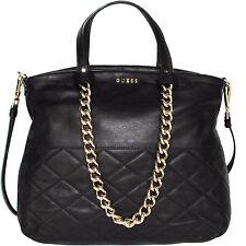 GUESS borsa in pelle nera con catene leather handbag Made in Italy Tasche €295