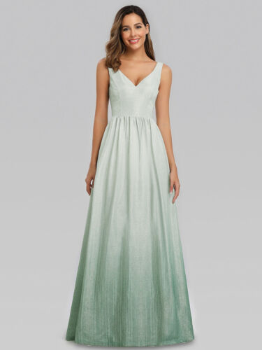 Ever-Pretty V-neck A-Line Holiday Evening Dress Long Bridesmaid Prom Gown 00988