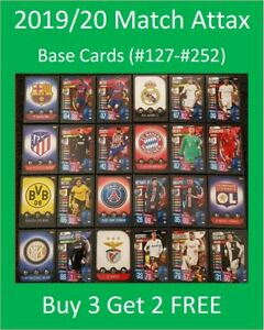 2019-20-Match-Attax-UEFA-Soccer-Cards-Base-Cards-127-256-Buy-3-Get-2-FREE