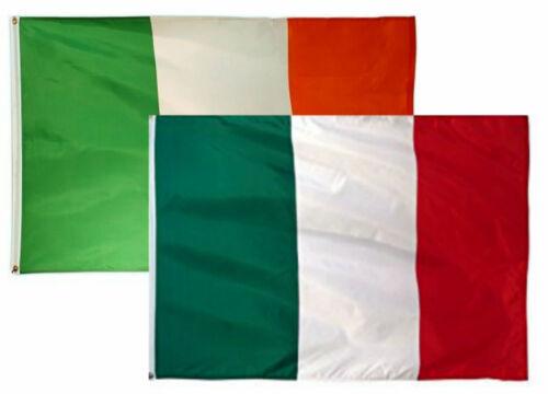 3x5 3/'x5/' Wholesale Combo Set Italy Italian /& Ireland Irish 2 Flags Flag