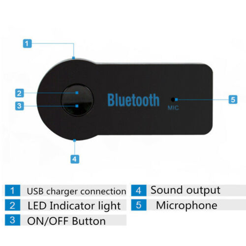 Top 3.5mm Bluetooth V3.0 Wireless Stereo Audio Music Receiver for Car AUX