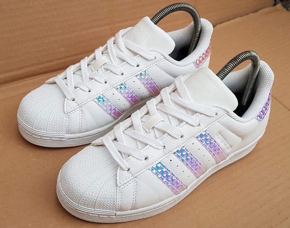 finest selection da638 d509c ... Zapatillas Adidas Superstar Holográfico Reino Unido Dubai Blues usado  dos veces immaculat ...