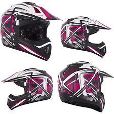NEW XS X SMALL Kimpex CKX TX529 Off Road Motocross Helmet Leak Pink Black #1958