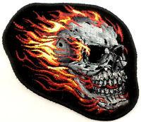 Burning Skull Flames Ghost Rider Motorcycle Uniform Patch Biker