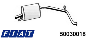 50030018 - SILENZIATORE POSTERIORE FIAT PANDA 1.0