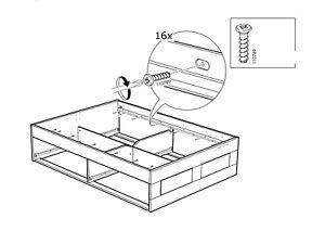 10 Ikea Schrauben 110789 Fur Ike Bettgestell Malm Brimnes Und Viele Mehr Ebay