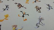 Disney Licencia Bugs Bunny Daffy Duck Comic Cartoon Algodón Cortina De Tela Artesanal