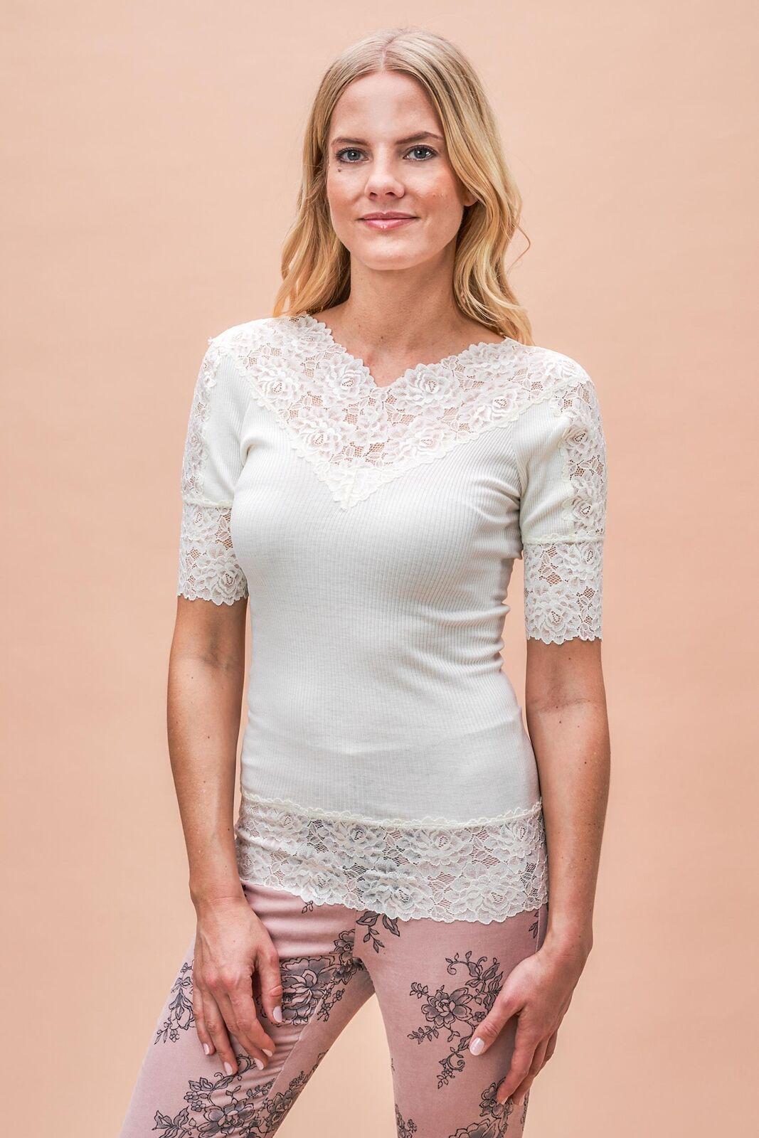 Rosamunde Copenhagen - Spitzenshirt Damen weiß Neu