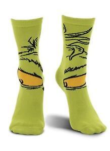 8b82e8349eaac Grinch Socks Crew Sock Dr. Seuss Costume Crazy Spirit Unisex Shoe 6 ...