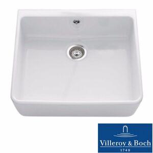 Details about Villeroy & Boch Farmhouse 60 1.0 Bowl White Ceramic Kitchen  Sink - NO WASTE