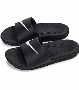 0b3434da26d122 Nike Kawa Slide GS 819352-001 Black   White Youth Women Slippers