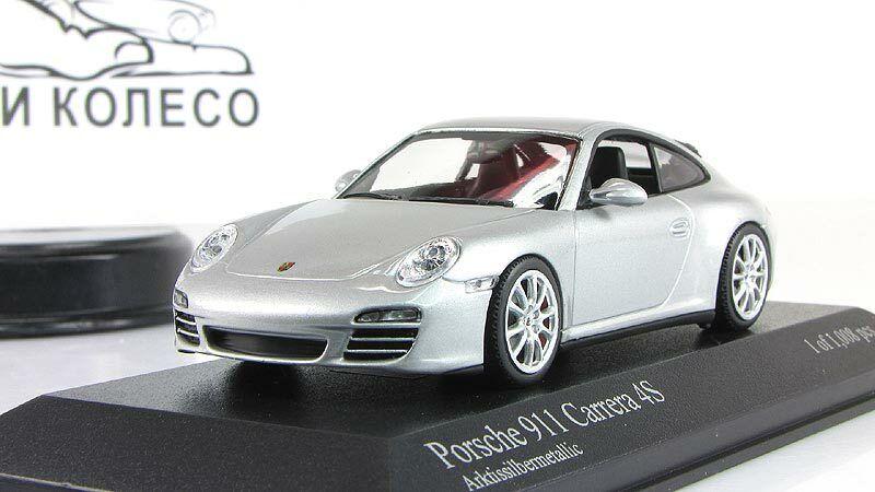 Échelle Voiture 1 43, Porsche 911 Carrera 4 S, argent métallisé 2008