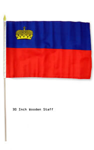"""12x18 12/""""x18/"""" India Country Stick Flag 30/"""" wood staff"""