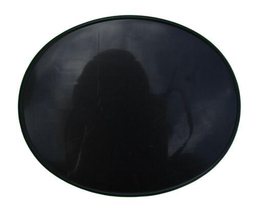 """NOS Neal Enterprises old school BMX OVAL Number Plate 11/"""" x 9/"""" BLACK"""