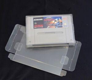 SNES-super-nintendo-Clear-Plastic-Game-Cartridge-Protector-x-10