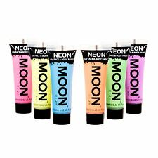Moon Glow Pastel Neon UV Face & Body Paint Festival Rave Party Set of 6 x 12ml