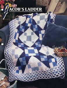 Jacobs Ladder Quilt Afghans, Annies crochet pattern eBay