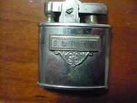 1930's art deco 2 color enamel ronson pocket lighter engraved S L Tyler