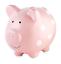 thumbnail 1 - Pearhead Ceramic Pink Piggy Bank, Makes a Perfect Unique Gift, Nursery Décor, Ke