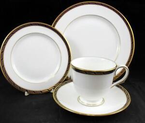 Lenox-China-AEGEAN-COBALT-Dessert-Set-A-CONDITION