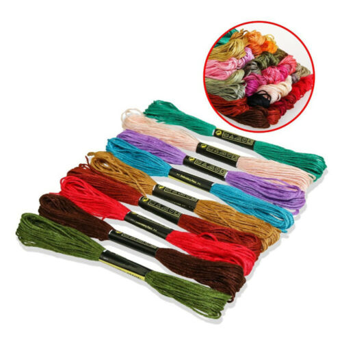 100 Colors DIY Cross Stitch Cotton Embroidery Thread Floss Sewing Skeins Craft