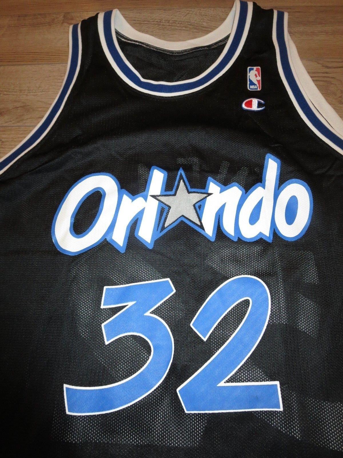 Shaquille Shaquille Shaquille O'Neal  32 Orlando Magic Schwarz Champion NBA Trikot 48 0dde67