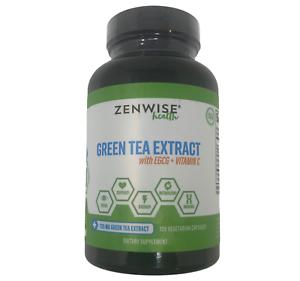 Zenwise Health Green Tea Extract with EGCG + Vitamin C 120 Vegetarian Caps 04/22