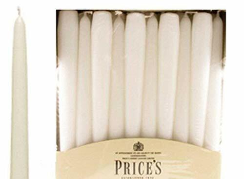 25 cm 8 H Burn-Blanc-Envoi gratuit Pack de 20 prix de Conique Dîner bougies