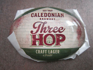 Caledonian Three Hop Lager Plastic Oval Fish Eye T Bar Pump Badge L4p Z4zrge14-08000516-136331511