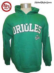 Baltimore-Orioles-Men-S-M-L-XL-2XL-Hooded-Sweatshirt-St-Patrick-039-s-Day-MLB-Green