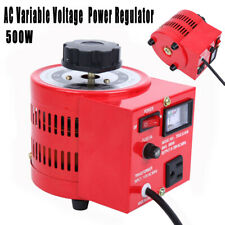 Auto Transformer Ac Variable Voltage Power Regulator Metered 500w 0 130v