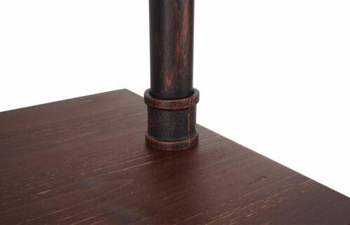 Wohnregal Standregal HWC-B64 Industriedesign Metall Holz 175x60x30cm braun