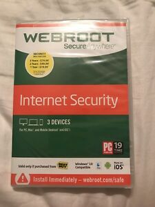 Software Computers/tablets & Networking Imported From Abroad Webroot Internet Security