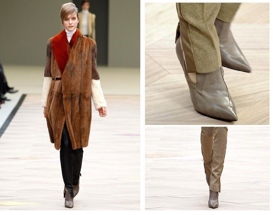CELINE FALL 2011 READY TO WEAR RUNWAY SHOES Loafer Heels Pointed Toe Pumps